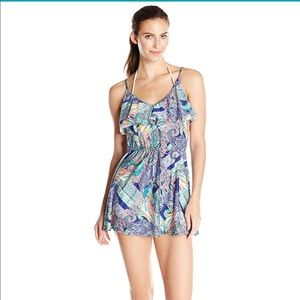 NWT Kenneth Cole Reaction Paisley  dress size L
